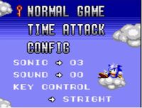 Sonic Labyrinth screenshot--main menu.jpg