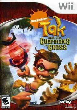Box artwork for Tak and the Guardians of Gross.