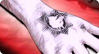 Danganronpa bullet Tattoo on the Right Hand.png
