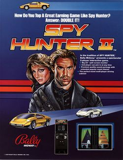 Box artwork for Spy Hunter II.