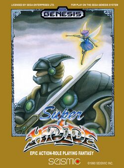 Box artwork for Super Hydlide.