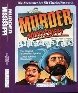 Box artwork for Murder on the Mississippi.