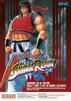 Box artwork for Savage Reign.