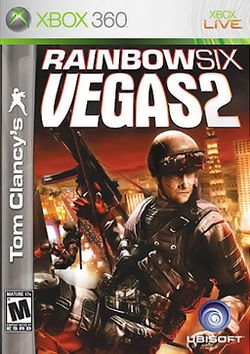 Box artwork for Tom Clancy's Rainbow Six: Vegas 2.