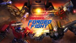 Box artwork for Transformers: Forged to Fight.