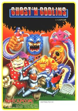 Box artwork for Ghosts 'n Goblins.