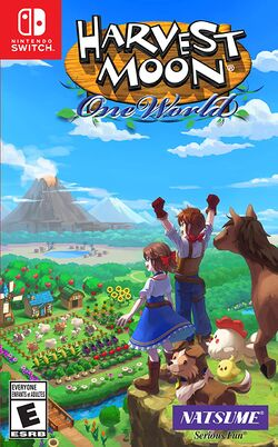 Box artwork for Harvest Moon: One World.