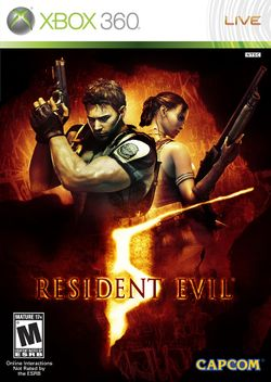 Box artwork for Resident Evil 5.