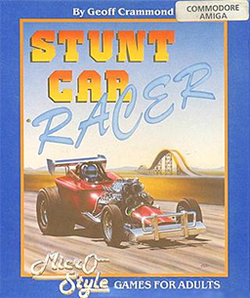 Box artwork for Stunt Car Racer.