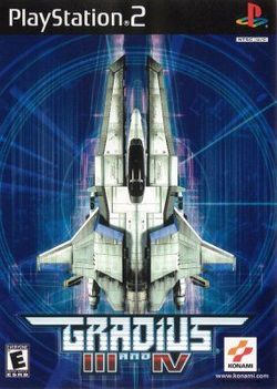 Box artwork for Gradius III and IV.