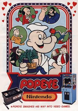 The logo for Popeye.