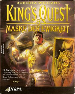 Box artwork for King's Quest: Mask of Eternity.