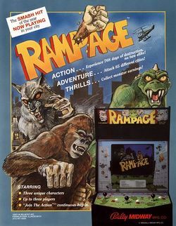 Box artwork for Rampage.