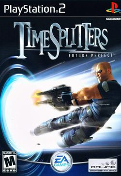 Box artwork for TimeSplitters: Future Perfect.