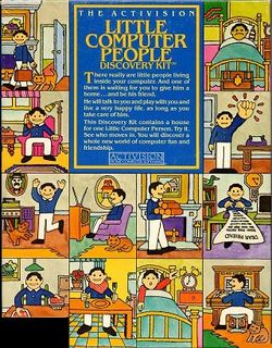 Box artwork for Little Computer People.