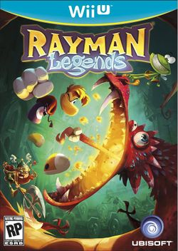 Box artwork for Rayman Legends.