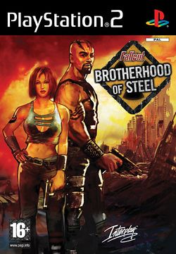 Box artwork for Fallout: Brotherhood of Steel.
