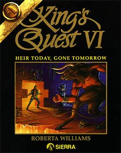 Box artwork for King's Quest VI: Heir Today, Gone Tomorrow.
