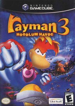 Box artwork for Rayman 3: Hoodlum Havoc.