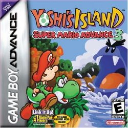 Box artwork for Super Mario Advance 3: Yoshi's Island.