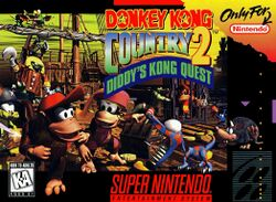 Box artwork for Donkey Kong Country 2: Diddy's Kong Quest.