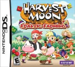 Box artwork for Harvest Moon: Frantic Farming.