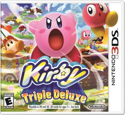 Box artwork for Kirby: Triple Deluxe.