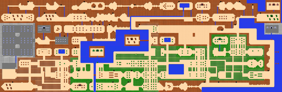 The overworld of Hyrule.