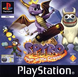 Box artwork for Spyro: Year of the Dragon.