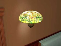 """Belle Epoque"" Tiffany wall lamp by Frufru Lighting Design."