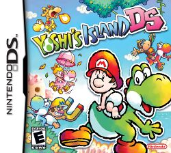 Box artwork for Yoshi's Island DS.