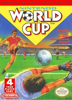 Box artwork for Nintendo World Cup.