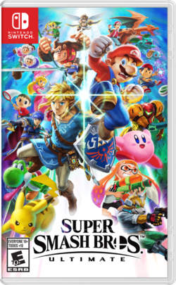 Box artwork for Super Smash Bros. Ultimate.