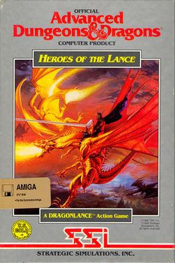 Box artwork for Heroes of the Lance.