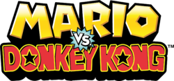The logo for Mario vs. Donkey Kong.