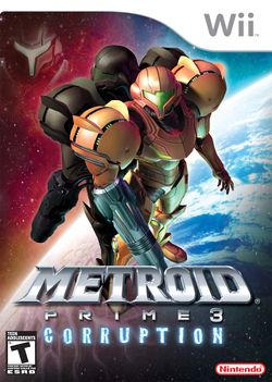 Box artwork for Metroid Prime 3: Corruption.