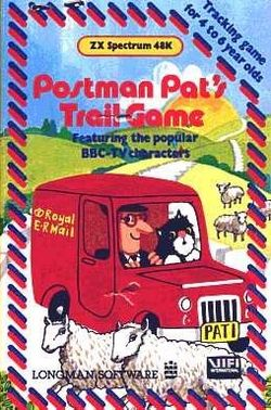 Box artwork for Postman Pat's Trail Game.