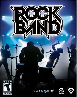 Box artwork for Rock Band.
