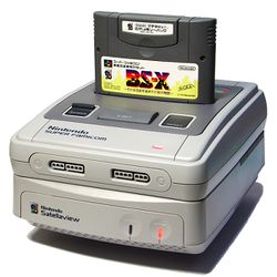 The console image for Satellaview.