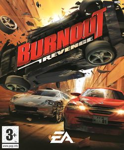 Box artwork for Burnout Revenge.