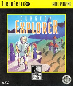 Box artwork for Dungeon Explorer.