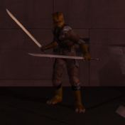 KotORII Model Trandoshan Thug (Long Swords).png