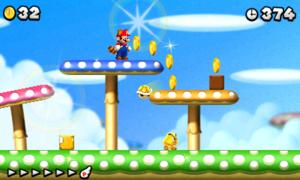 New Super Mario Bros  2/World 1-4 — StrategyWiki, the video