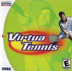 Box artwork for Virtua Tennis: Sega Professional Tennis.