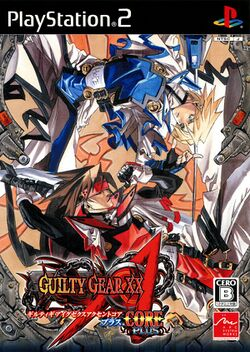 Box artwork for Guilty Gear XX Λ Core Plus.