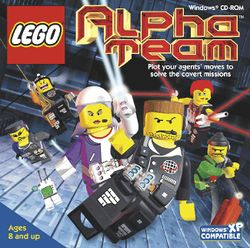 Box artwork for LEGO Alpha Team.