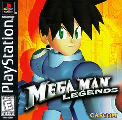 Box artwork for Mega Man Legends.
