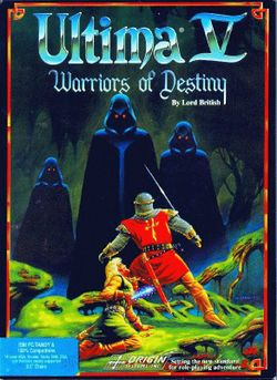 Box artwork for Ultima V: Warriors of Destiny.