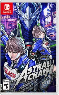 Box artwork for Astral Chain.