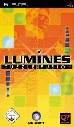 Box artwork for Lumines.